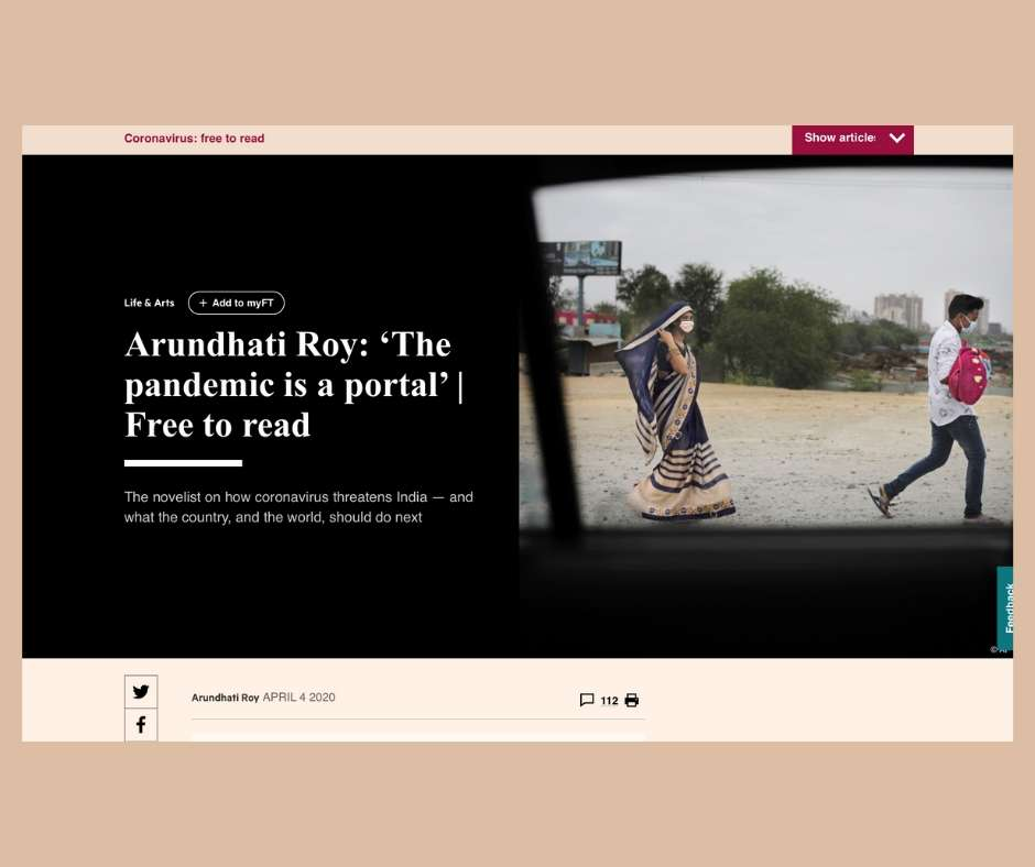 Arundhati Roy in the Financial Times