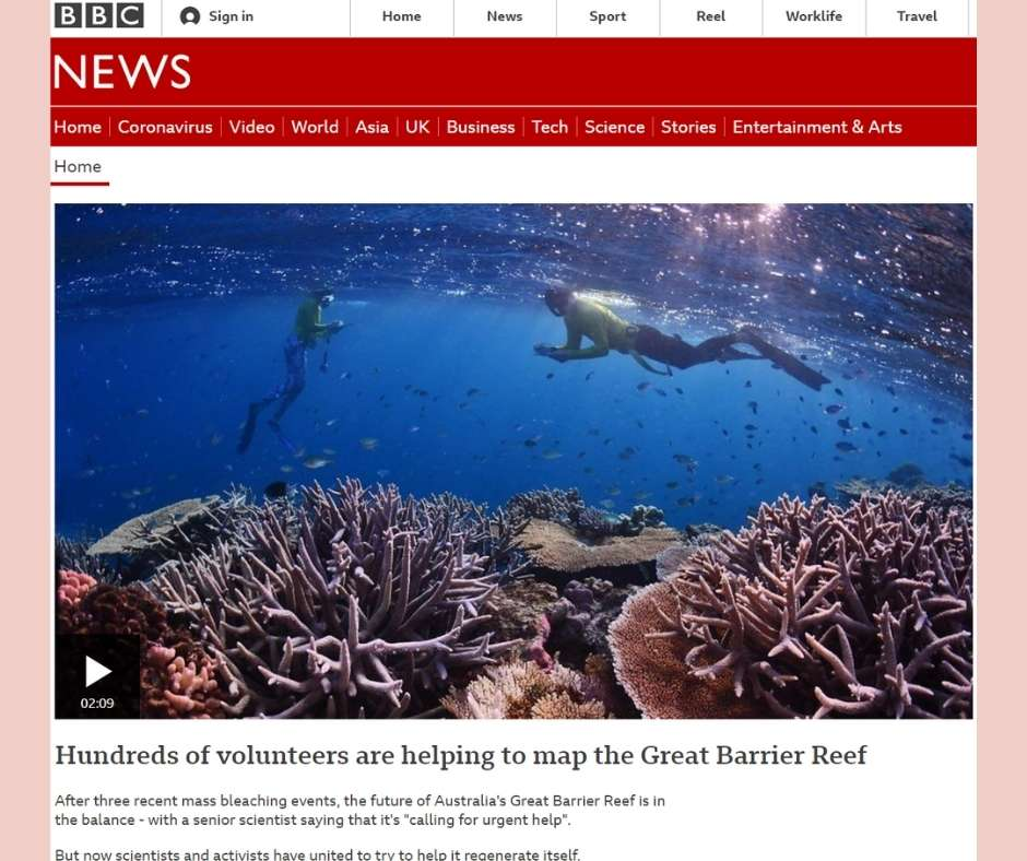 Mapping the Reef article