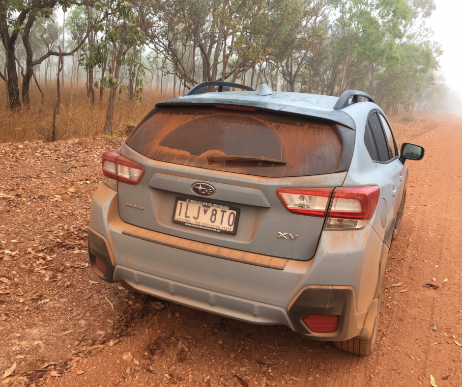 Car in outback